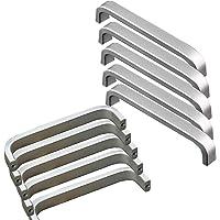 20x Qrity Mini Maniglie per ante di mobili in Alluminio, viti incluse (Lunghezza:128MM, Larghezza: 10mm)
