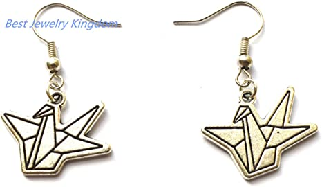 Origami Birds Earrings- Silver - The Literary Gift Company | 270x466