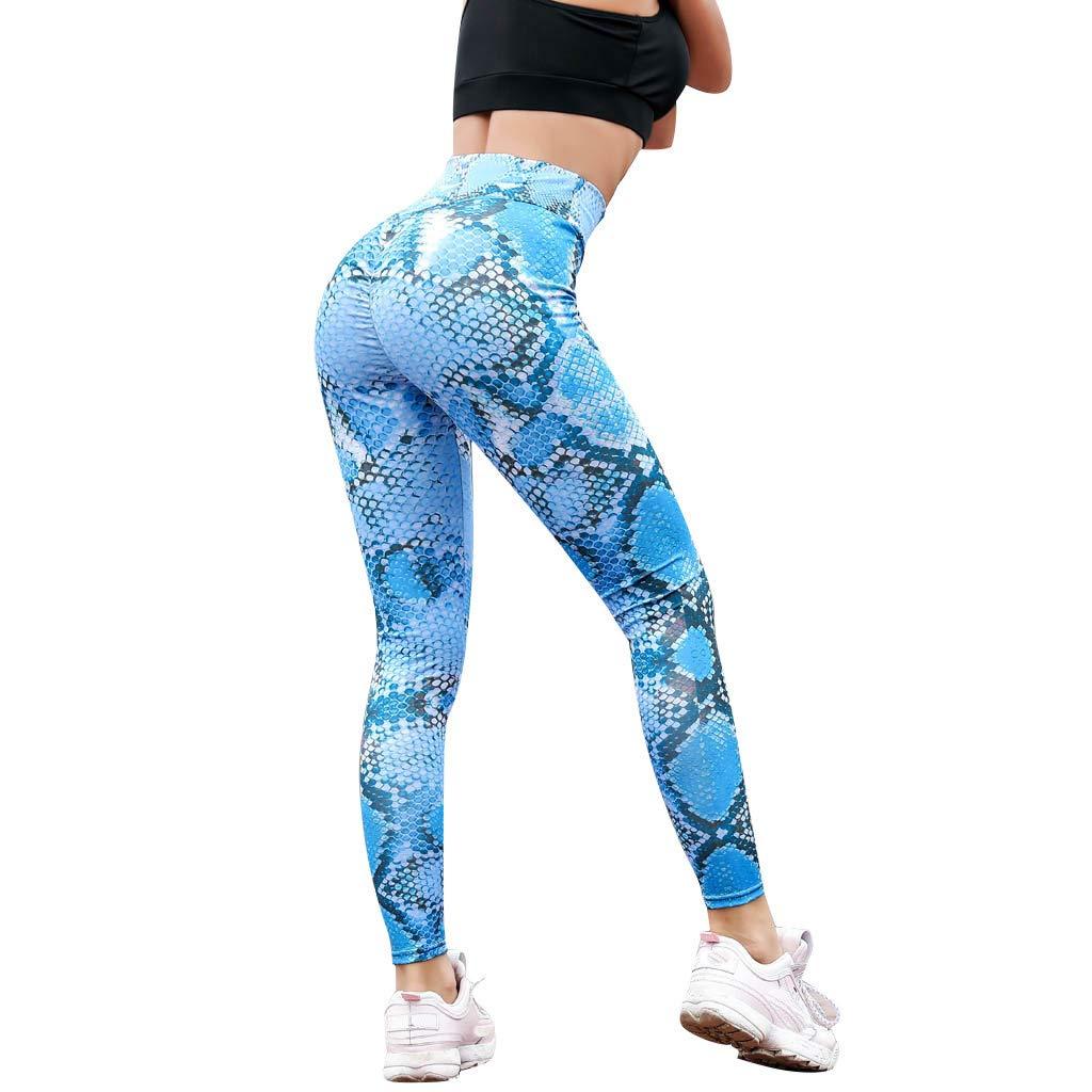 4X Workout Shorts Women, Women Jumpsuits Elegant,Serpentine High Waist Leggings Serpentine Women Yoga Pants Mesh Leather Leggins Blue