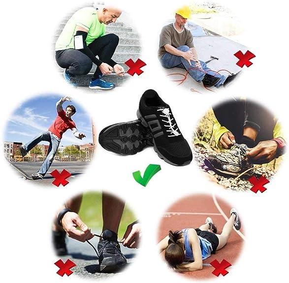 Cordones de Zapatos (4 pares), Cordones Reflectantes Elásticos ...