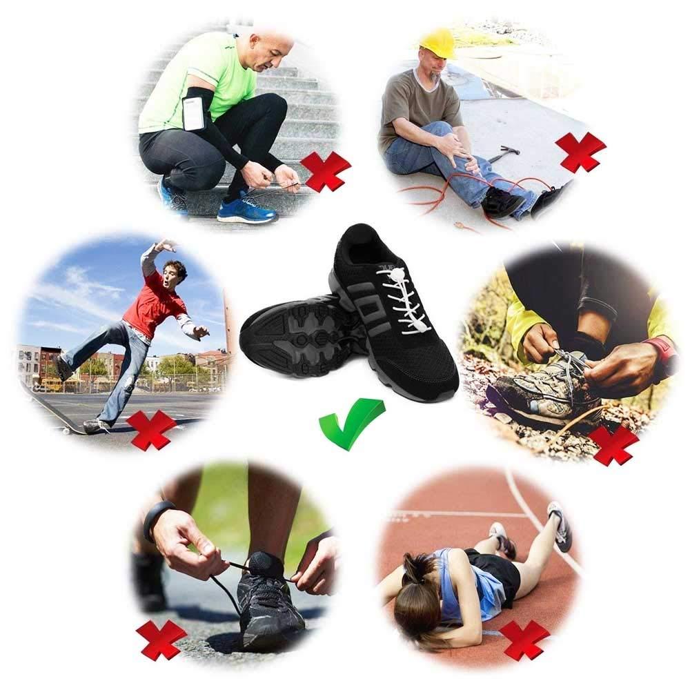 Cordones de Zapatos (4 pares), Cordones Reflectantes Elásticos, Botas para Caminar y Zapatillas de Correr de 120 cm, Zapatillas de Deporte para Niños, ...
