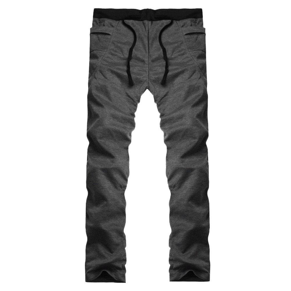 TnaIolral Mens Pants Casual Trunks Sweatpants Trousers Dark Gray