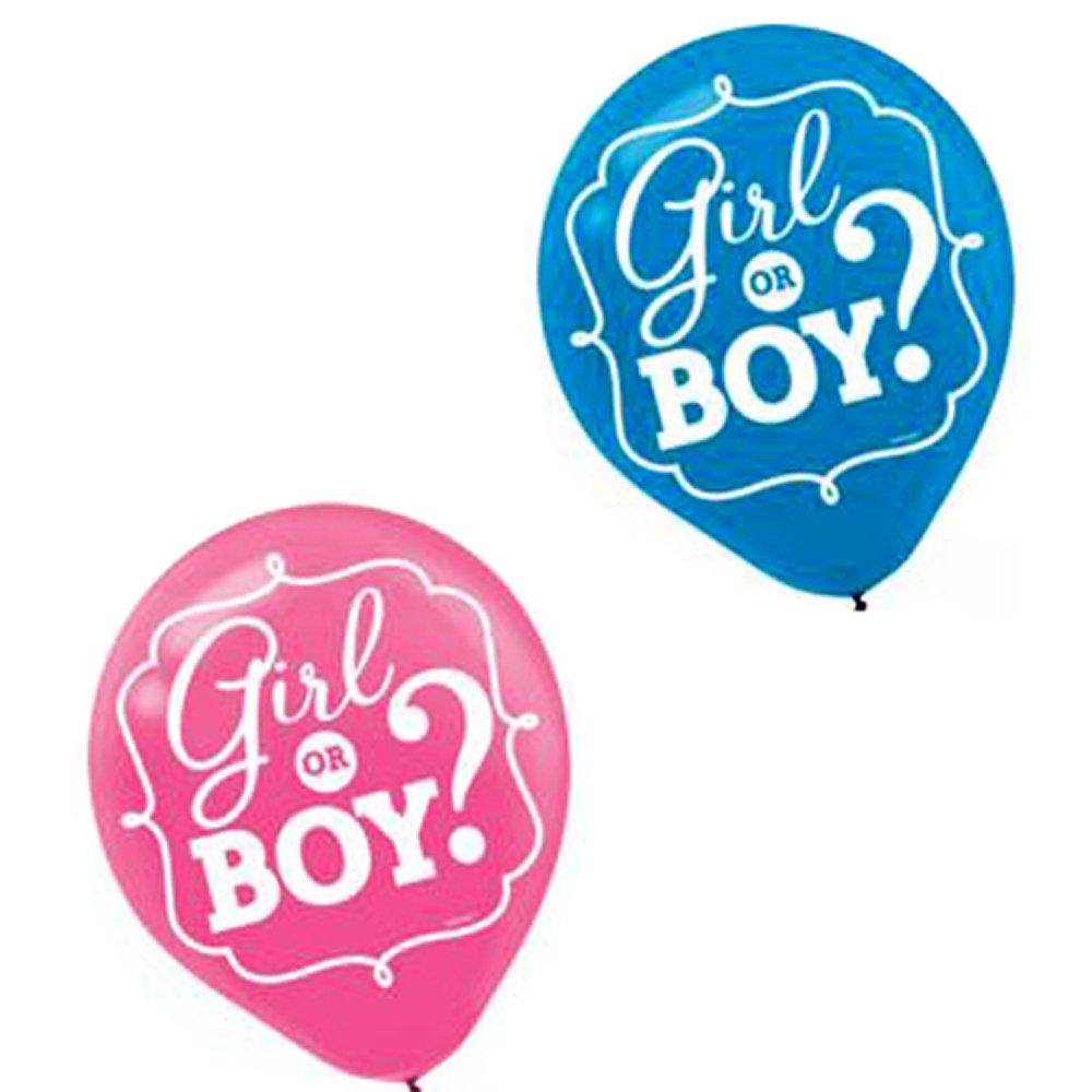 ベビーシャワー' GirlまたはBoy ' Latex Balloons ( 15ct )   B01CRA5QZ4