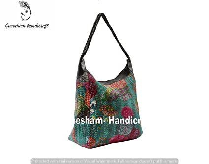 Amazon Com Indian Handmade Bohemian Kantha Shoulder Bags Hippe Top