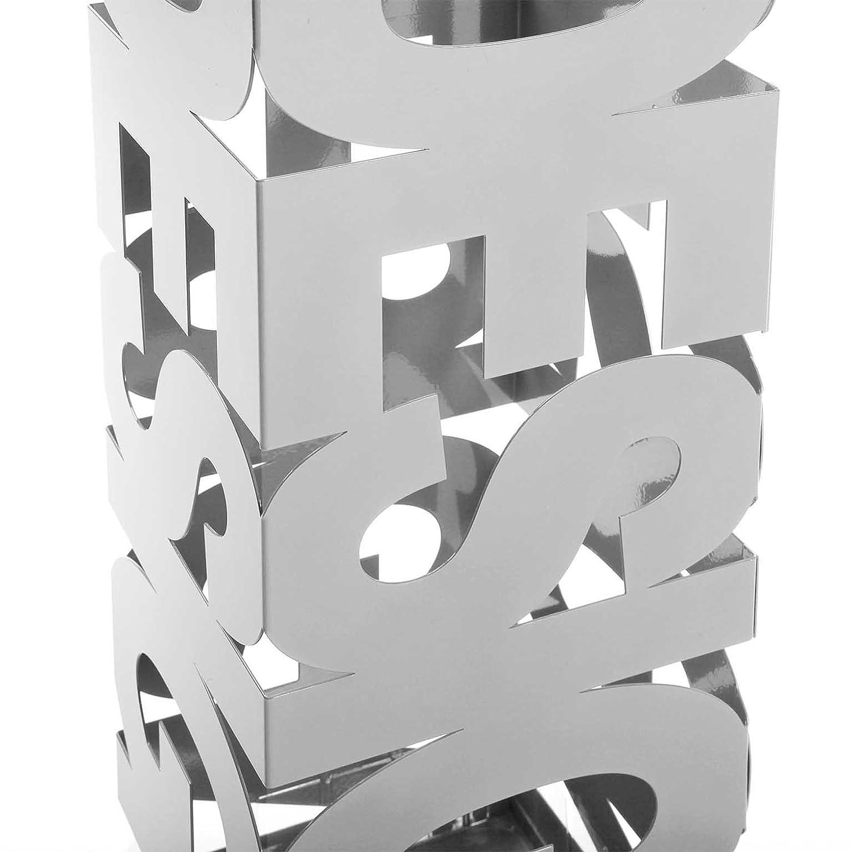 Versa 20200101 Paraguero, Metal, Blanco, 52 x 19 x 19 cm