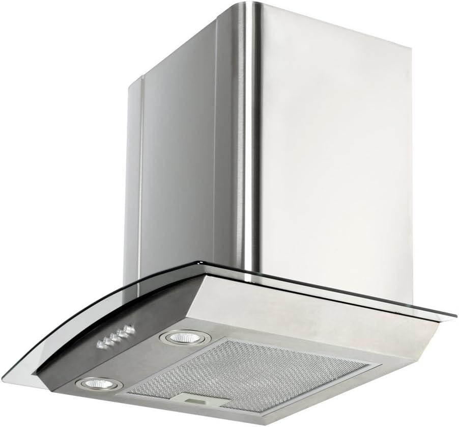 VidaXL K700-60 RVS 700 m³/h De pared Acero inoxidable - Campana (700 m³/h, Canalizado, 72 dB, De pared, Acero inoxidable, Acero inoxidable): Amazon.es: Hogar