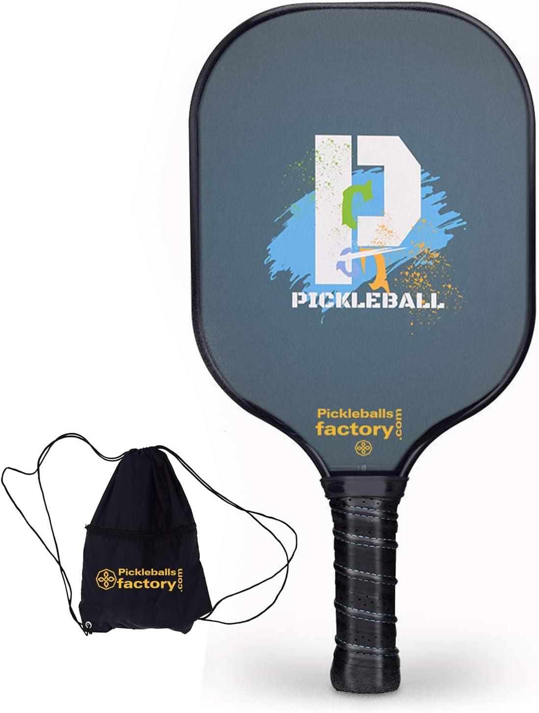 Pickleball Paddles, Pickleball Paddle, Pickleball Paddles Graphite, Pickleball Raqueta, P-Fun Pickle Ball Paddle with Pickleball Bag for Beach Tennis Racket&Pickleball Court
