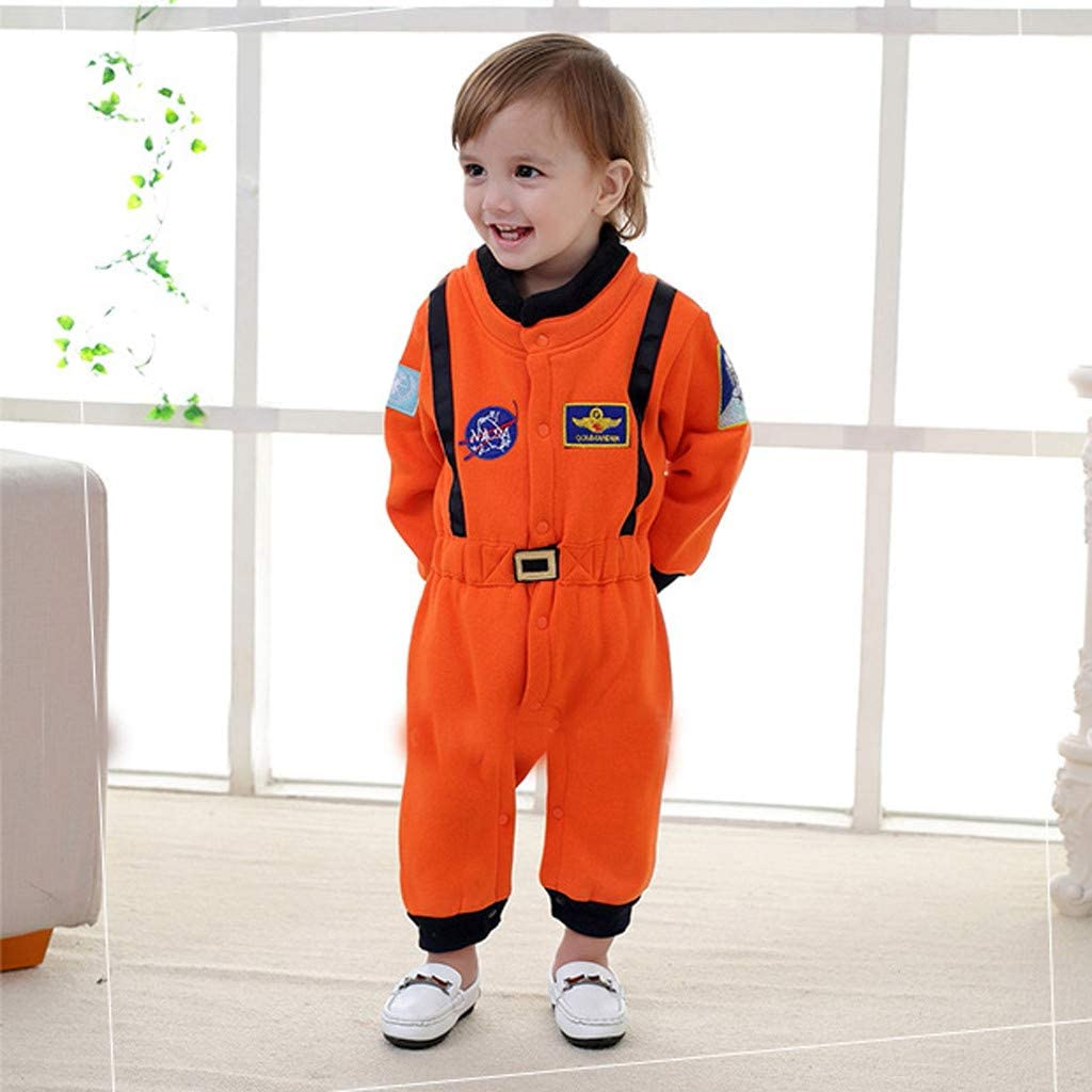 Pilots Jamicy /™ Baby Boys Girls Roleplay Astronaut Spaceman Romper Jumpsuit Outfits Cosplay Space Suit Children Onesies Clothes Climbing Clothes