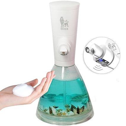 DULPLAY Automático Dispensador de jabón espuma, Ajustable Controles Y el sensor sin contacto Encimera con