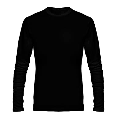 8ba07e40863 T Shirt - Full Sleeve Round Neck Plain 100% Cotton T Shirt - Black and  White Combo Full Hand Round Neck Cotton T Shirt  Amazon.in  Clothing    Accessories