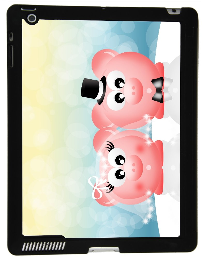 Rikki Knight? Pink Pigs in Love Wedding Illustration Design Smart Case Ultra-thin with Magnetic support for Apple iPad? 2/3/4 Gen