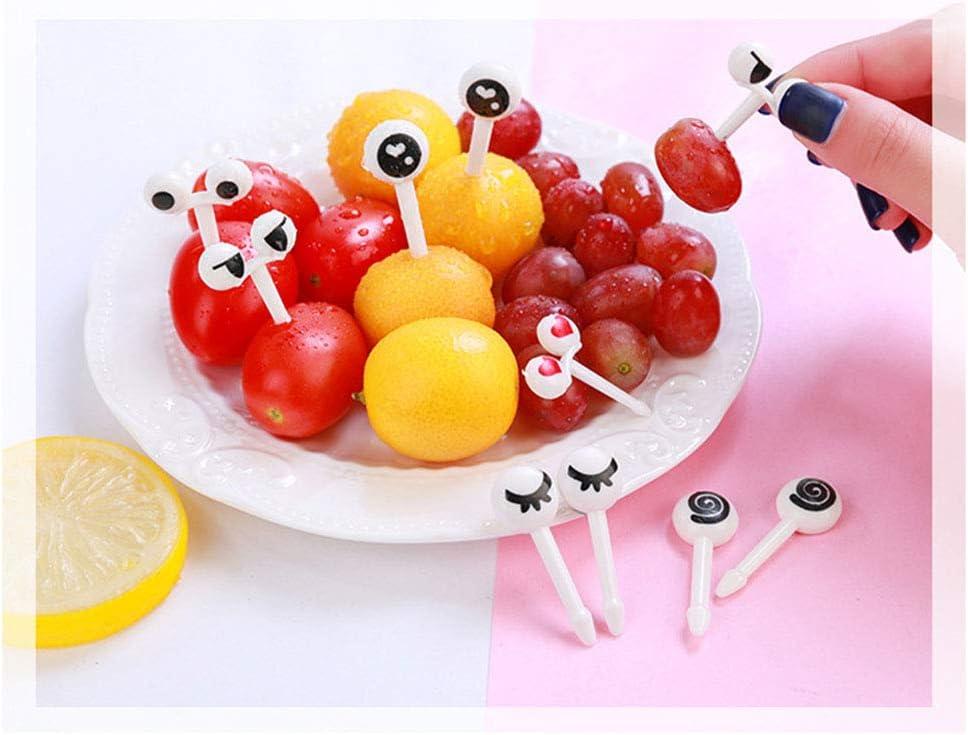 Bestonzon 50/pcs Assorties Dessin anim/é Yeux Fruits Fourchette Nourriture Picks /à dessert Fruits Picks pour pour Bento /à sandwich mise en bouche