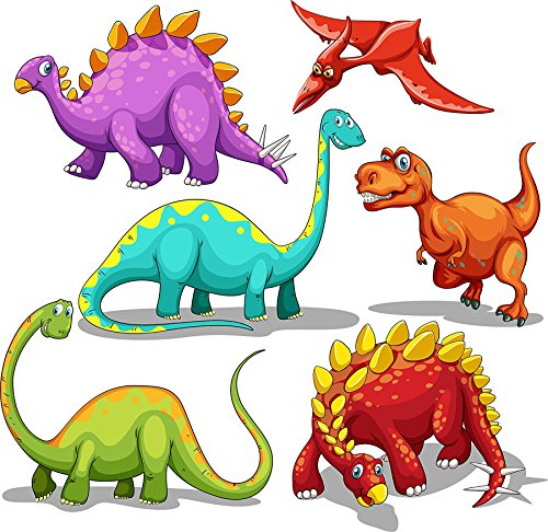 FRONT 140pcs Tattoos for Kids 20 Desgins Dinosaur Temporary