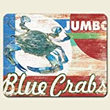 Chesapeake Bay Maryland Blue Crab Tempered Glass Cutting Board