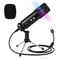 USB Microphone,Podcast Multipurpose Condenser Microphones for Computer,Laptop,Plug&Play Microphone with Desktop Stand…