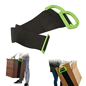 CNQLIS Adjustable Lifting Moving Straps -,Lifting Moving Straps with Durable Handles Multifunctional Carrying Belt for Furniture, Boxes, Mattress, Construction Materials and Heavy,Up to 330Lbs