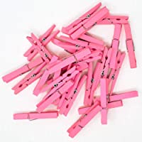 Just Artifacts 2.75-inch Craft Wood Clothespins/Peg Pins (50pcs, Baby Pink)