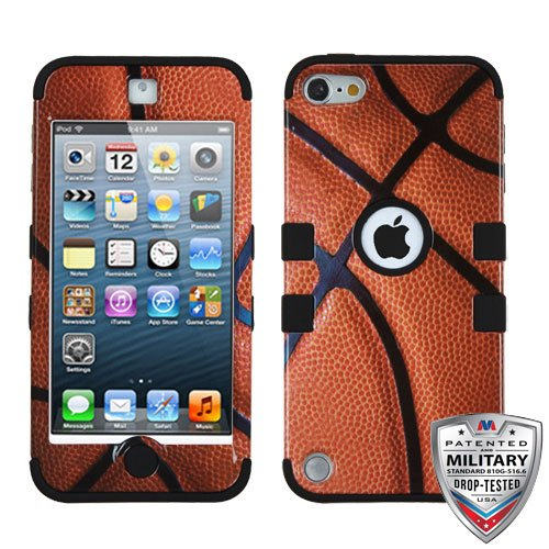 Apple iPod Touch 5th 6th Gen Basketball-Sports Collection/Black TUFF Hybrid Case