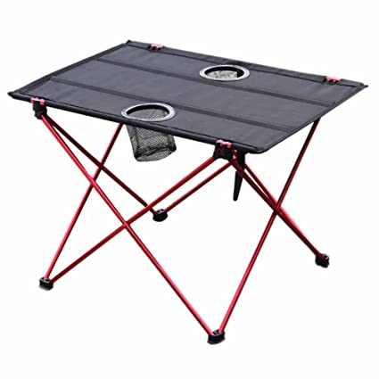 Garden Supplies Foldable Camping Picnic Tables Portable Compact Lightweight Folding Table For Outdoor Camping Beach red Home & Garden