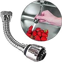 Quanjucheer - Douchette flexible 360degrés en acier inoxydable, extension de robinet