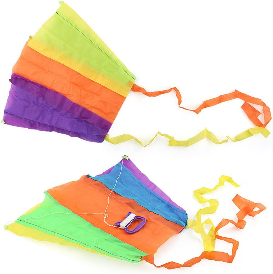 Hotsellhome Huge Colorful Earth Kite Kids and Adults Beautiful Large Best Easy Flyer Kite Supplest Pocket Kite Toy Outdoor Games Activities with String