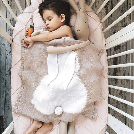 Mantas De Algodón Para Niños Siesta Sofá Dormitorio Aire Acondicionado Manta Manta De Bebé,110 * 130+Piel De Cordero_Caqui: Amazon.es: Bebé