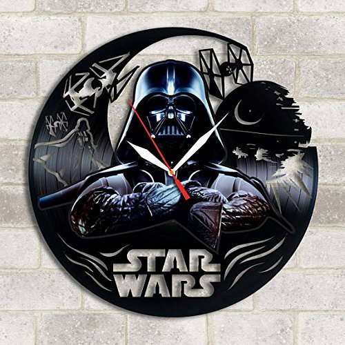 choma Darth Vader Star Wars Handmade Vinyl Record Wall Clock - Get Unique Kitchen Wall Decor - Gift Ideas for his and her Darth Vader Unique Modern Art ...