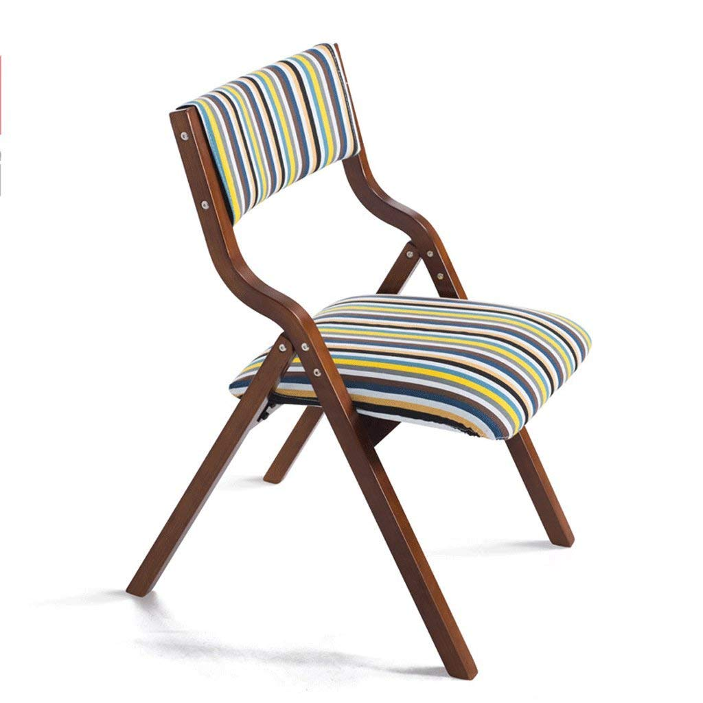 R DYR Foldable Solid Wood Chair Removable, Easy-to-Clean seat Cover Armchair (color  C)