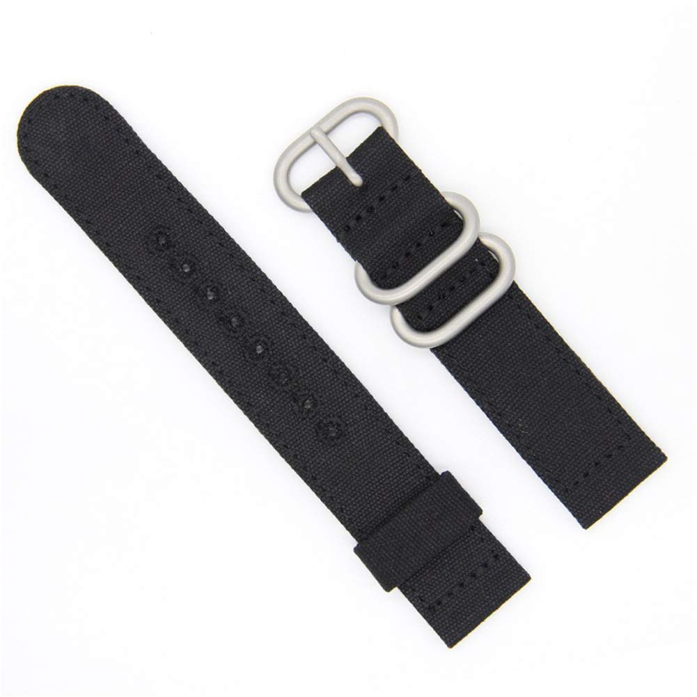 26mm Rugged Khaki Stitched Canvas Watch Strap for Men and Women NATO Straps Dual Cotton Canvas Watch Bands