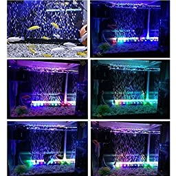 ProDeals LED Aquarium Light Fish Tank Light RGB 16 Colors Changing with Remote Control and Air Stones (24inch)