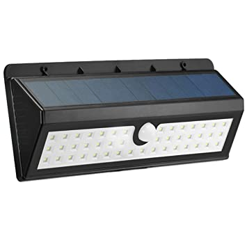 KINGSO Waterproof Wireless LED Solar Powered Lights For Patio Wall Light  With Three Intelligent Modes,