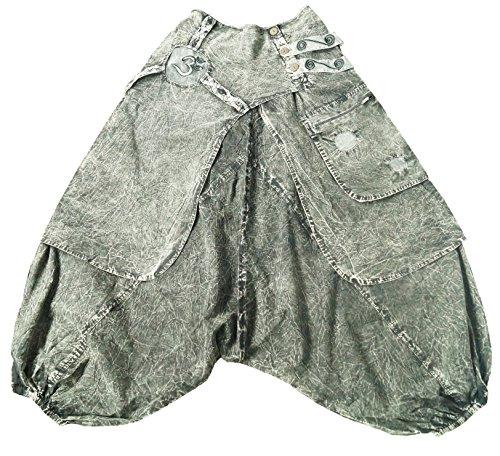 Grigio Orientali pantaloni Xeira 08 A Harem Pompa Aladin Pantaloni Eqqg0w6