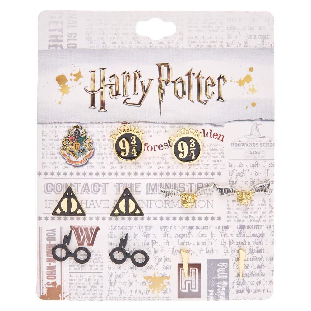 Claire's - Femmes Lot de paires de clous d'oreille assortis de Harry Potter™ Claire's - Femmes Lot de paires de clous d'oreille assortis de Harry PotterTM