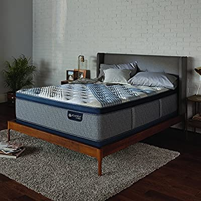 "Serta Icomfort 500822053-1060 Hybrid 14"" Blue Fusion 1000 Plush Conventional Bed Mattress, King, Gray"