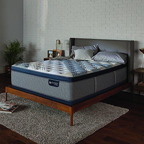 "Price comparison product image Serta Icomfort 500822053-1060 Hybrid 14"" Blue Fusion 1000 Plush Conventional Bed Mattress,  King,  Gray"