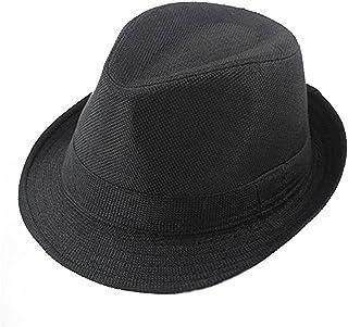 Tinksky Cappello di jazz per bambino Cappello fedora di cotone nero (56-58cm)
