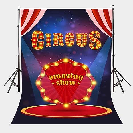 EdCott 5X7ft Fondo de Cartel de Circo Espectáculo Asombroso ...