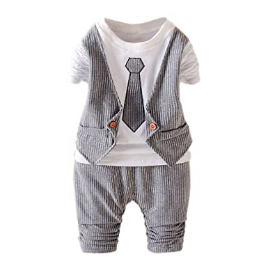 162b4ab9a Amazon.com  JIANLANPTT Baby Boy Formal Party Wedding Tuxedo ...