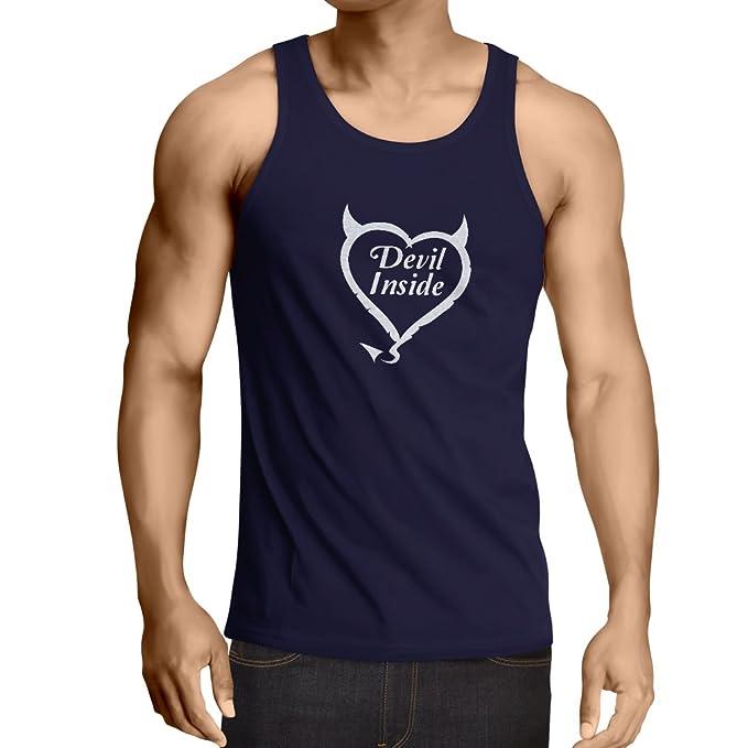 lepni.me Camisetas de Tirantes para Hombre Devil Inside Disfraces de Diablo Ropa Divertida, Regalos para Jugadores, Eslogan Genial: Amazon.es: Ropa y ...