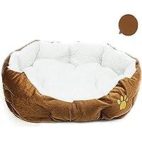 Zedo Pet Nest, Plüsch warme Hundehütte, braun