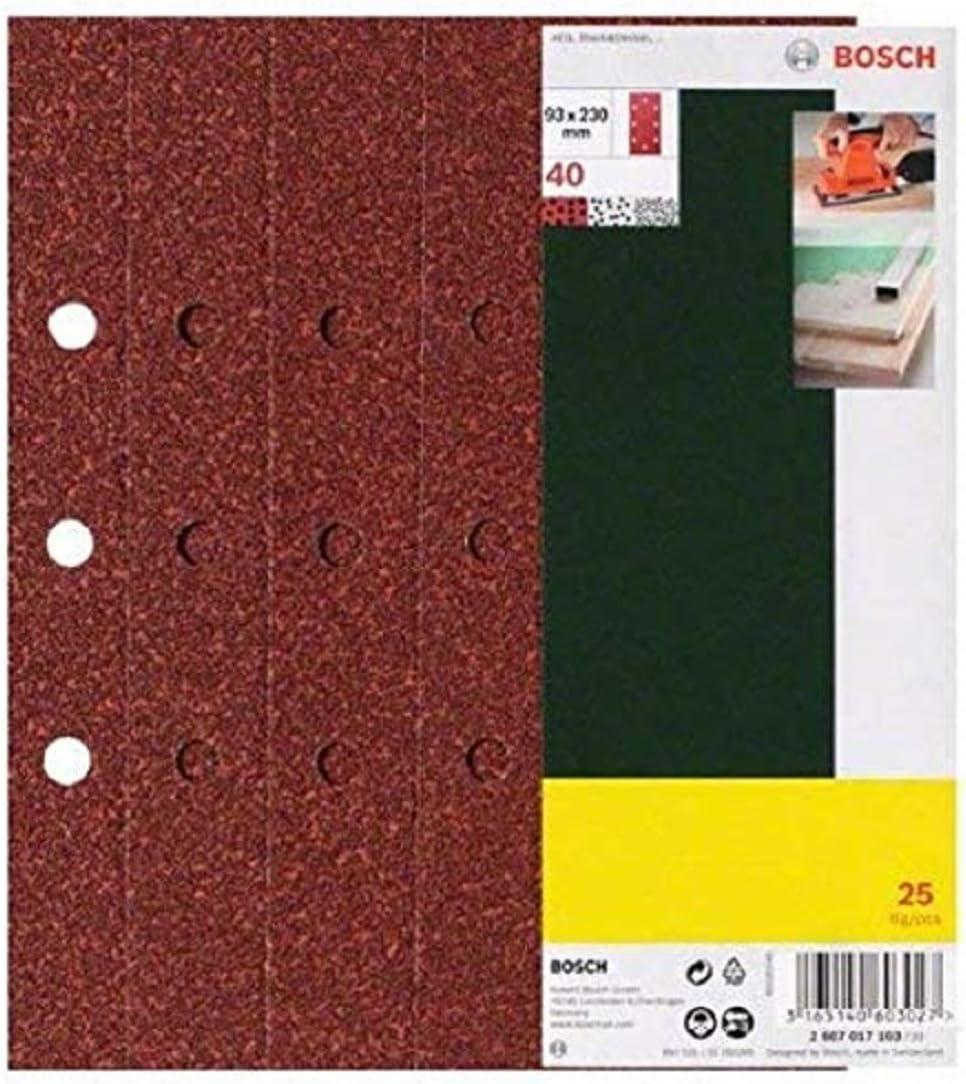 25 pieza s s - Accesorios para lijadoras Bosch 2607017106 Hoja lijadora 25pieza , 98 mm, 235 mm, 25 mm, 160 g