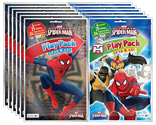 Bundle of 12 Marvel's Spider-Man Grab & Go Play Packs]()