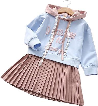 Vestidos de Niñas, Allskid Otoño Manga Larga Carta Impresa Azul ...