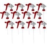 Cornucopia Brands 28-400 Trigger Sprayer Nozzles (12-Pack); Heavy Duty Chemical Resistant Part 16oz / 32oz Spray Bottles w/ 10-Inch Dip Tube