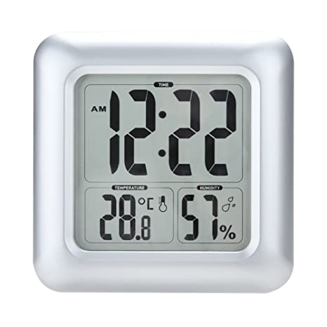 BALDR Bathroom Clock LCD Waterproof Shower