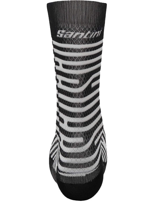 Santini White 2019 Soffio Printed Summer Cycling Socks