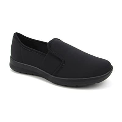 Women's Cute Memory Foam Nursing Shoes Flats Elastic Goring - Printed - Florence Sunny: Shoes
