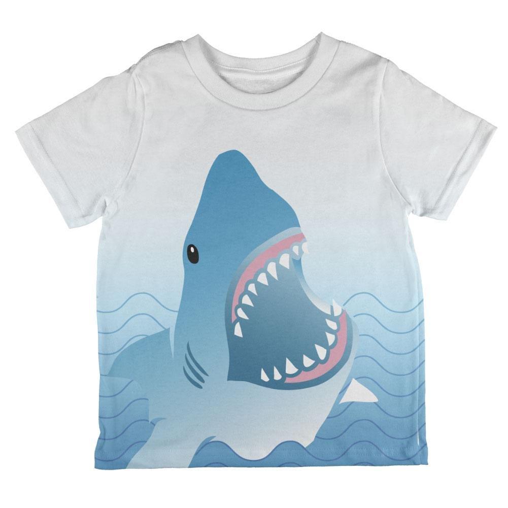 Shark Bite Ombre Waves All Over Toddler T Shirt