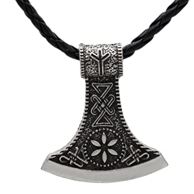 women viking axe amulet necklace jewelry for delicate men item wholesale pendant