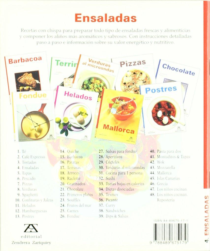 Ensaladas/Salads: Annette Wolter: 9788489675179: Amazon.com ...